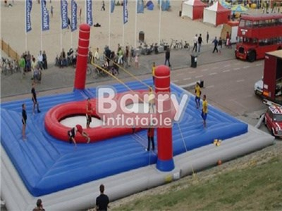 China Manufacturer Inflatable Bossaball Game Court,Inflatable Bossaball For Adults  BY-IS-005